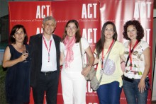 Dr. Eleni Godi, and Dr. Panos Vlachos, ACT Provost with ACT Graduate